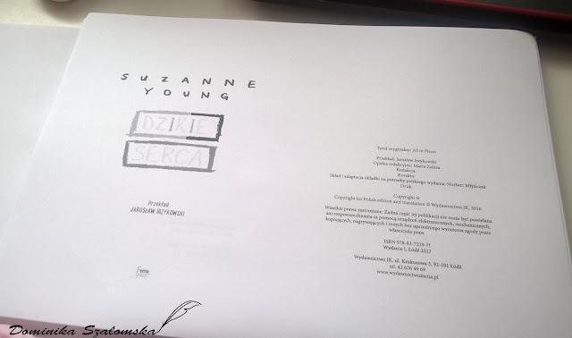 """#158 [PRZEDPREMIEROWO] Recenzja książki """"Dzikie serca"""" Suzanne Young - Patronat"""