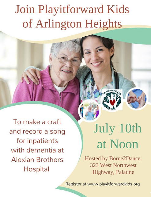Playitforward Kids of Arlington Heights and Borne2Dance, Inc. Host Service Project for Kids July 10