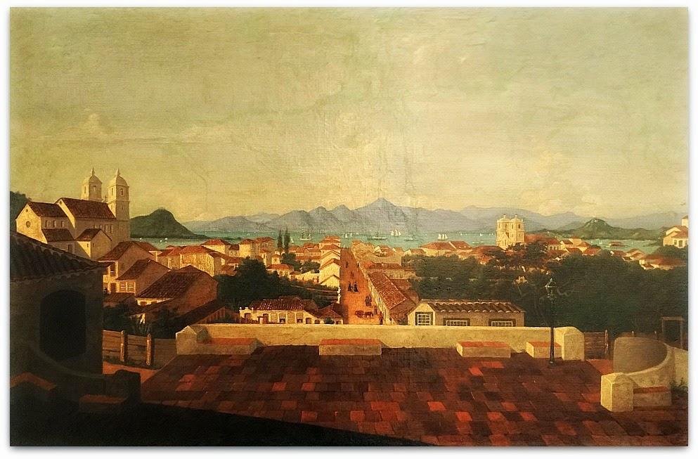 """""""Vista Parcial da Cidade de Desterro"""" (1851) - Victor Meirelles de Lima"""