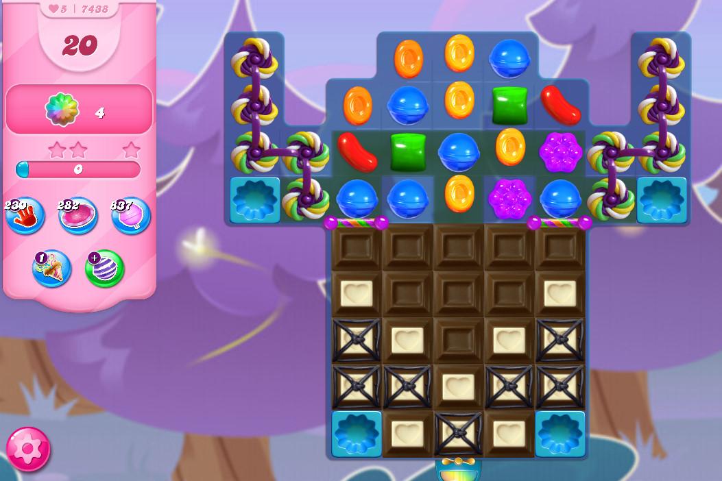Candy Crush Saga level 7438
