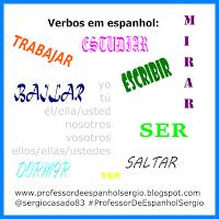 Verbos irregulares em espanho, espanhol, aprender espanhol, curso de espanhol, verbos espanhol, dicas de espanhol, conjugaçoes espanhol, exercícios espanhol, atividades espanhol