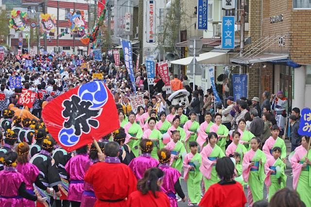 Shigesa Odori Parade (Fishermans warf festival), Oki Island, Shimane Pref.