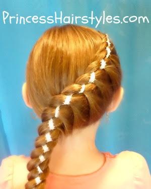 twist braid with ribbon
