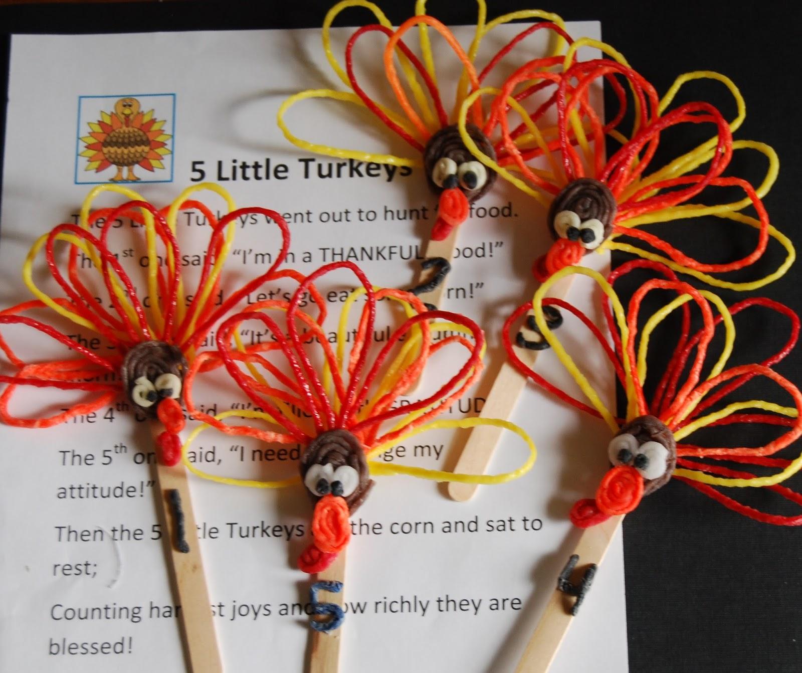 5 Little Turkeys A Gratitude Poem For Young Kids