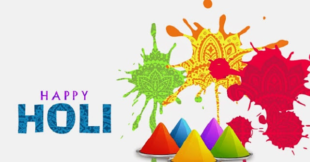 Images of holi festival in cartoon