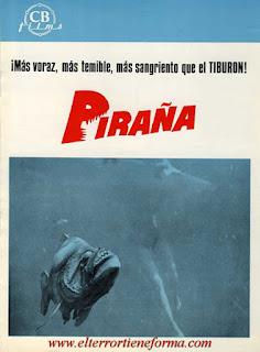 Guía Publicitaria de Cb Films de la película 'Piraña'