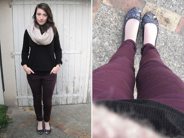 Lookbook automne tons bordeaux tenue 1
