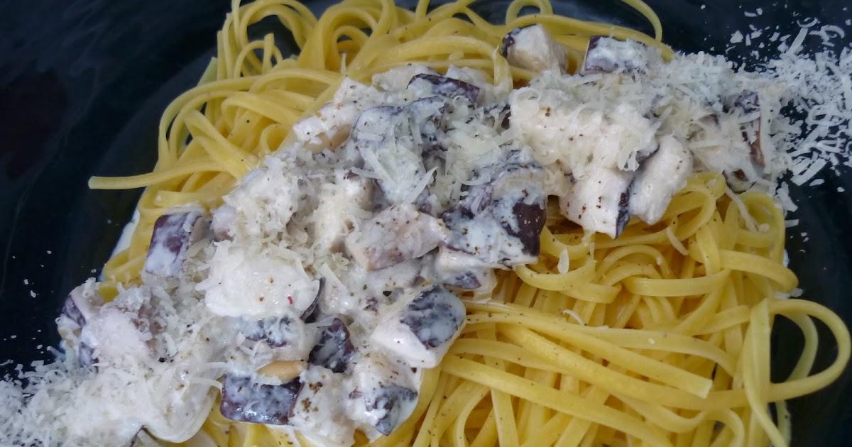 La chef a pasta con salsa de setas y nata - Salsas para pasta con nata ...
