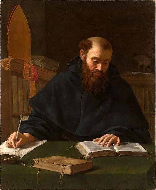 Saint Augustine Caravaggio 1600
