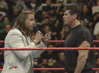 WWE / WWF Wrestlemania 15: WWF Commissioner confronts Mr McMahon