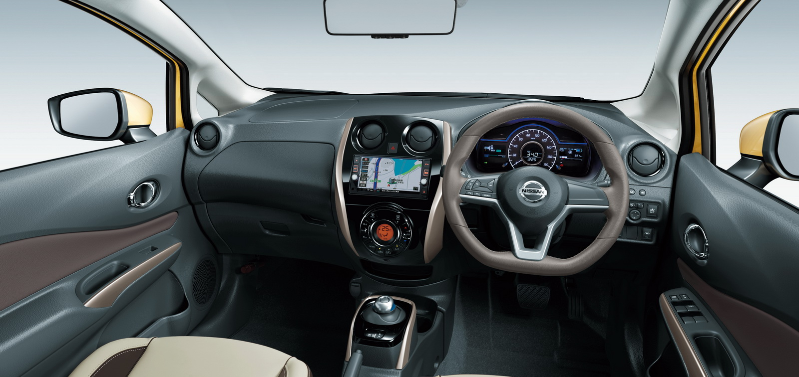 After beating the prius in japan nissan s e power hybrids for E interior design