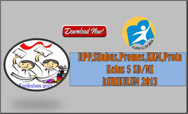 RPP Silabus Promes Prota KKM Kurikulum 2013 Kelas 5 SD/MI