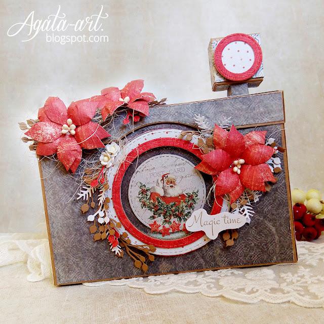 Pudełko na zdjęcia w formie aparatu