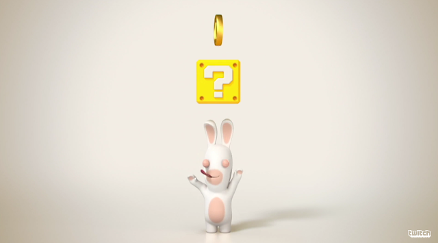 Rabbid Coin Block Question Mark ? yellow Mario Nintendo