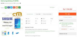 Samsung Galaxy J7 (2016) harga baru Rp 1 jutaan