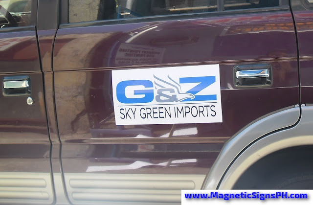 Van Magnetic Sign - G&Z Sky Green Imports
