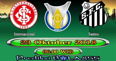 Prediksi Bola855 Internacional vs Santos 23 Oktober 2018