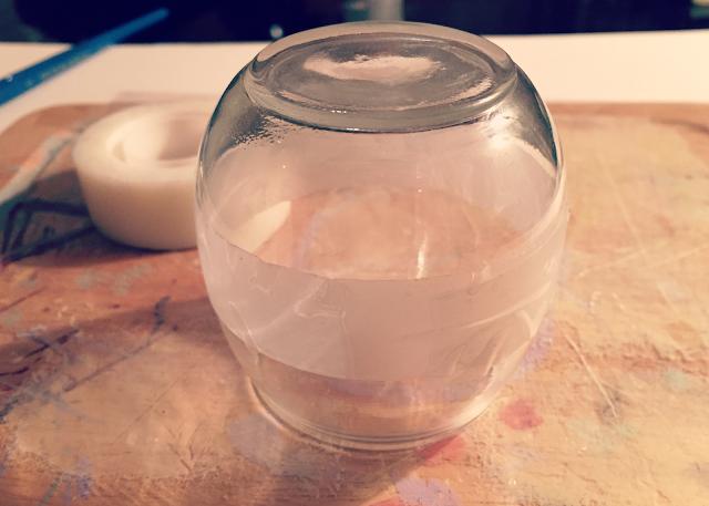 glass votive scotch magic tape