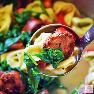 Easy Tortellini Soup | by Life Tastes Good