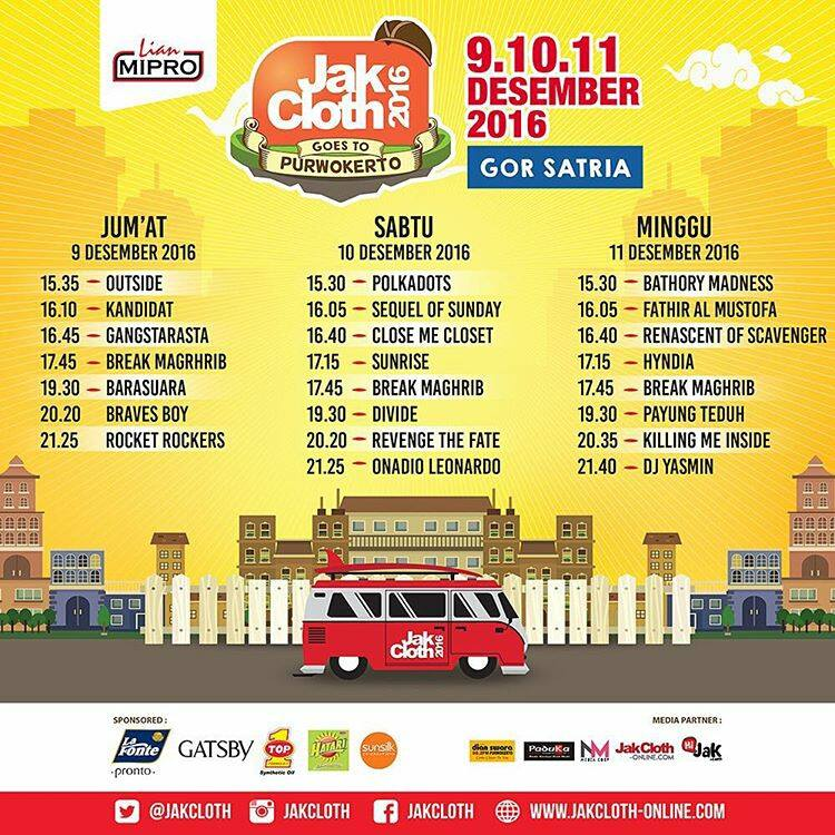 Rundown Jakcloth Goes to Purwokerto 2016