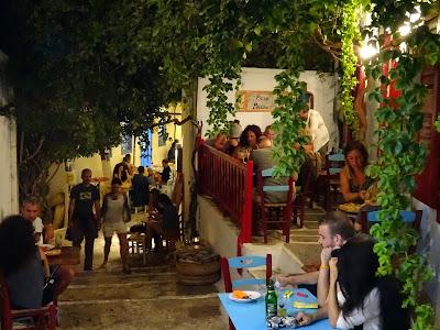 Amorgos, calles de Chora. Grecia.