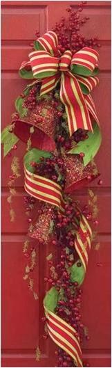 A mi manera adornos de navidad elegantes para la puerta - Adornos navidenos elegantes ...
