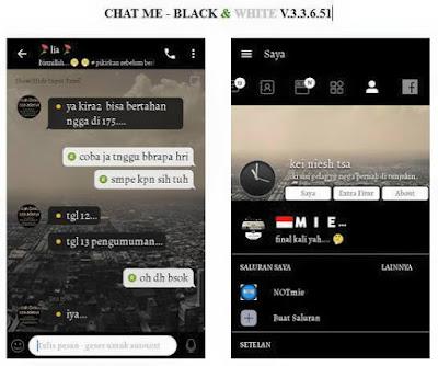 Free Download [BBM MOD] Black And White Apk v3.3.6.51 [BBM CHATME] Clone Unclone Transparan Terbaru gratis 2017. Dalam kesempatan kali ini kami selaku penulis dari blog ini akan membagikan sebuah BBM MOD Chat Me apk special tema Black and White