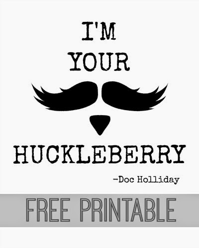 photo regarding Tombstone Printable referred to as Im Your Huckleberry Free of charge Printable - Absent She Went