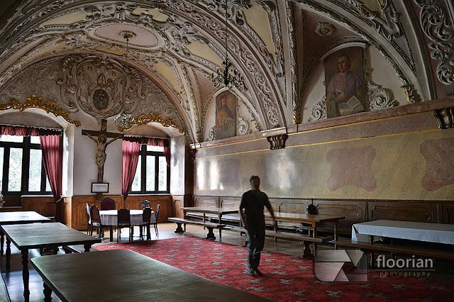 Reflektarz w Klasztorze w Henrykowie niedaleko Ząbkowic Śląskich na Dolnym Śląsku