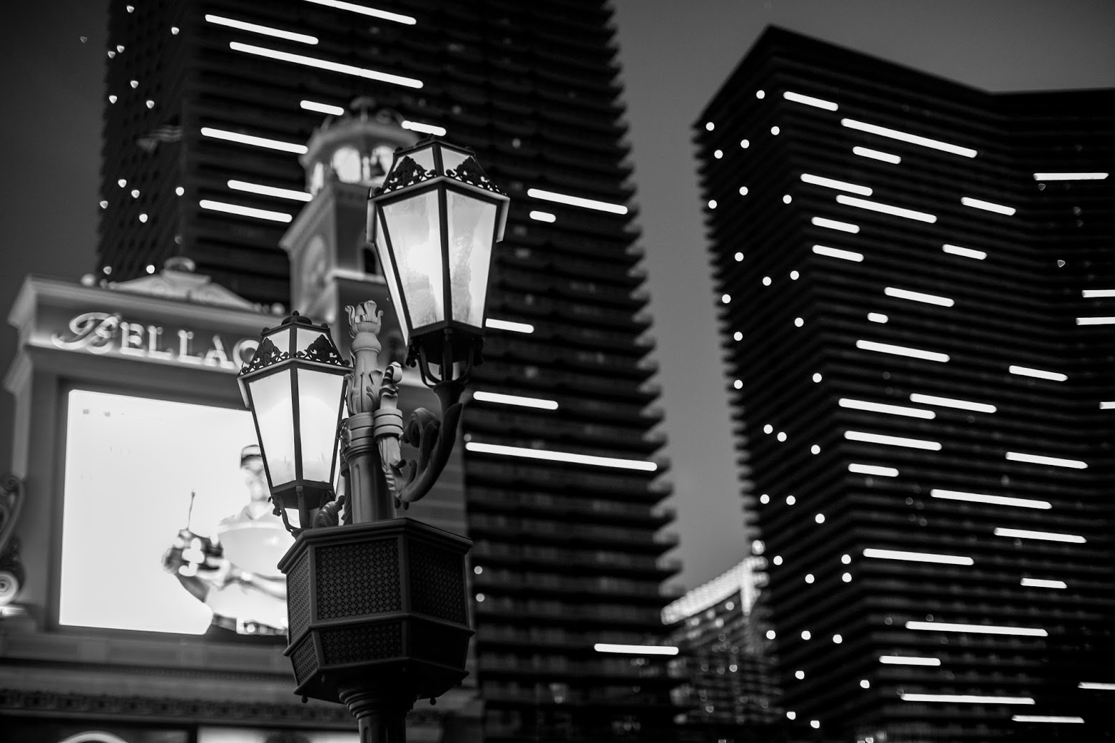 street light bokeh las vegas