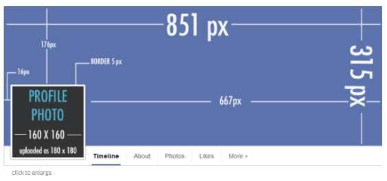 facebook banner size template