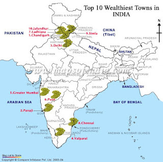 Top Ten Wealthiest Cities in India