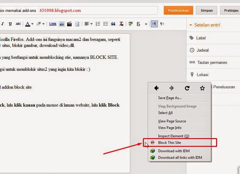 Cara Memblokir Website di Firefox memakai add-ons ~ JOS998 ...