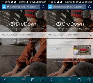 cara download video dan foto di instagram menggunakan dredown.com
