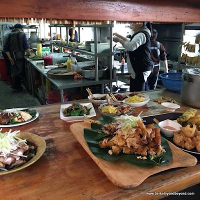 kitchen at Dageeli Tribe House Restaurant in Hualien, Taiwan