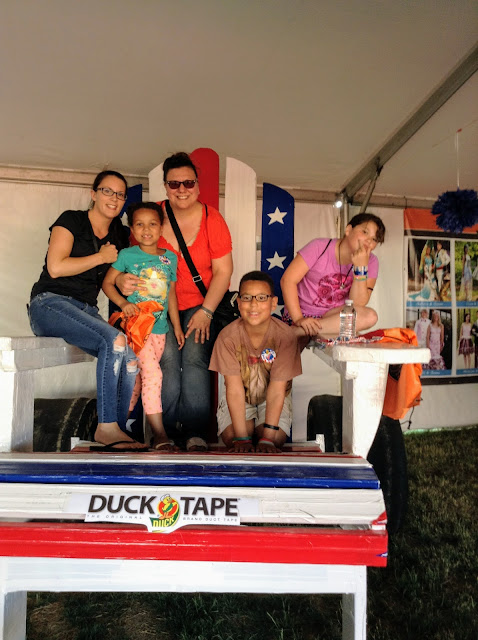 Friends at the Duck Tape Festival!