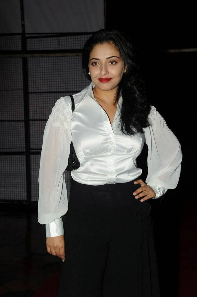 Model Mumtaj In White Dress At Audio Release Function