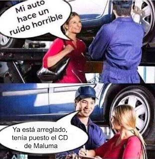 meme de maluma ruido de auto horrible