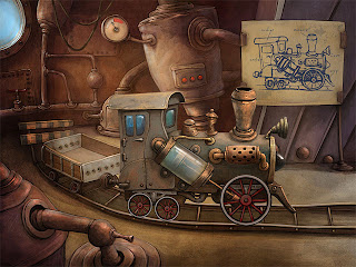 The Tiny Bang Story Game make locomotive engine