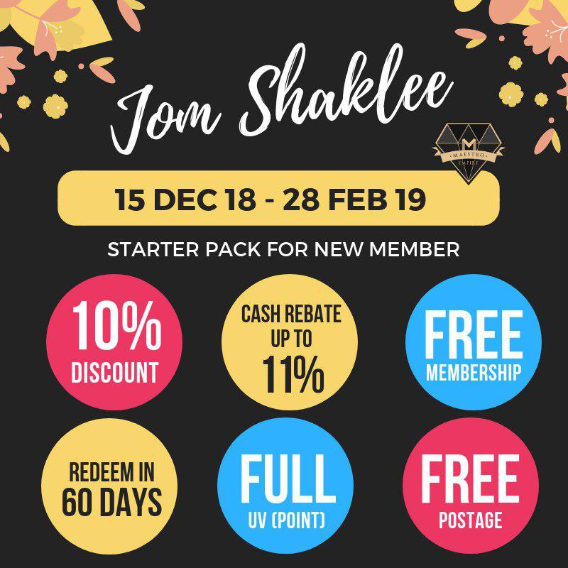 jom shaklee new starter pack ahli baru daftar ahli shaklee