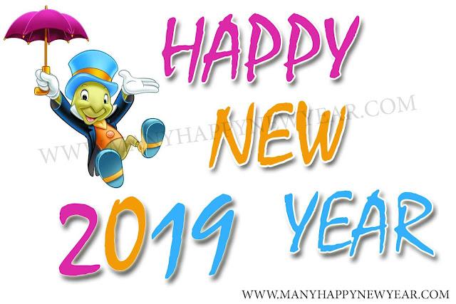 New year 2019 cartoons