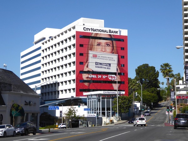 Samantha Bee Not White House Correspondents Dinner billboard Sunset Strip