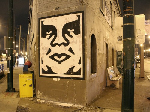 shepard fairey new street pieces in chicago streetartnews streetartnews. Black Bedroom Furniture Sets. Home Design Ideas