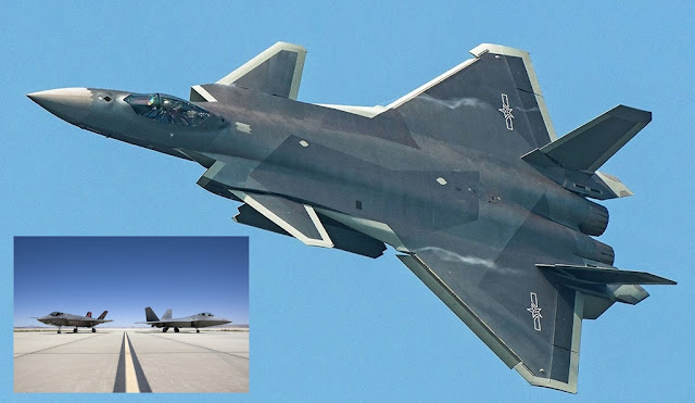 THE NEW CHINESE J-20 CAN'T MATCH US F-22 AND F-35