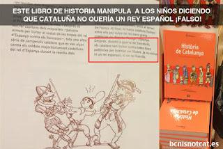 Cataluña, adoctrinamiento, historia, españa, carta, manipulación