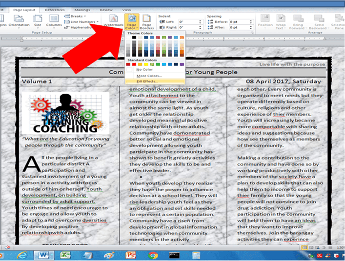 Enhance Documents Background Using Page Color Of Microsoft Word