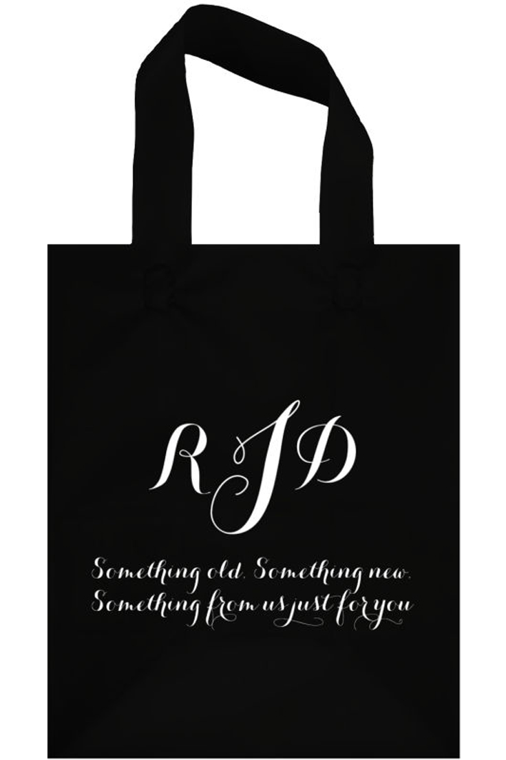 Black Something For You Frosted Gift Bags