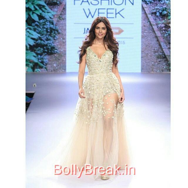 re gran n , from @film_hindi -  esha gupta , for lakme fashion week ,   , في اسبوع لاكمي للازياء.  ___________________________   film hindi , bollywood ,  ,  ,, Esha Gupta in Arpita Mehta Dress - Lakme Fashion Week 2015