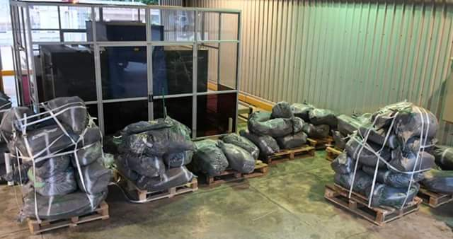 Photos: Singapore authorities seize container filled with elephant ivory worth US$2.5m ; says the illegal shipment originated from Lagos, Nigeria