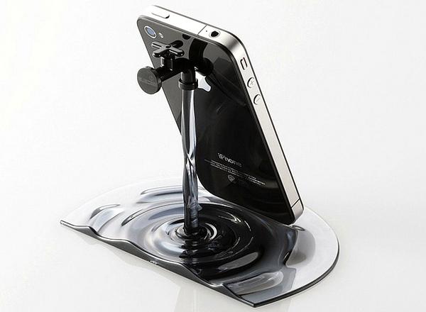 Diseño de Soporte para iPhone y iPad muy ingenioso.